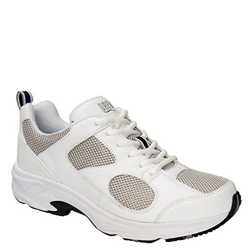 Scarpe Da Ginnastica Da Uomo Fulminei Sneakers, Pelle Bianca, 16 M