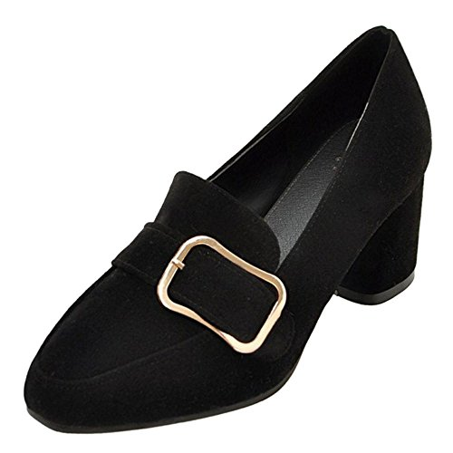 COOLCEPT Damen Trendy ohne Verschluss Pumps Black
