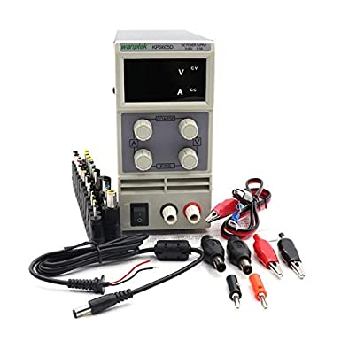 Color: Package 1, Input Voltage: 220V Utini Mini Switching DC Power Supply KPS605D 60V 5A Single Channel Adjustable SMPS Digital 0.1V 0.01A DC Power Supply 5v Power Supply