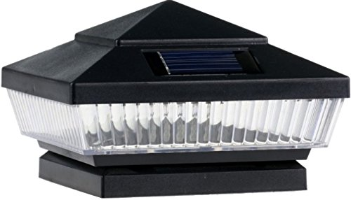 6-Pack Garden Solar Post Deck Cap Square Fence Lights 4
