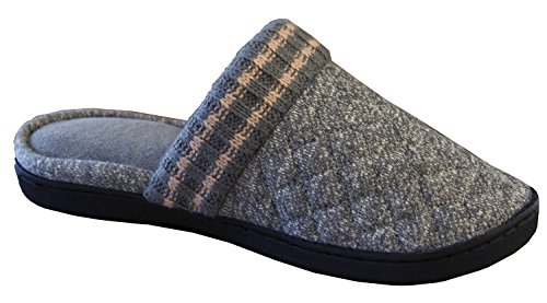 Isotoner Women's Heather Sweater Knit Donna Clog Slipper Ash
