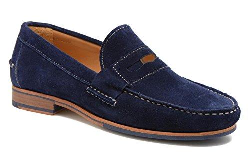 11sunshop Chaussures Classic Model Massimo en Daim Et Cuir par HGilliane Design EU 33 AU 46 Bleu
