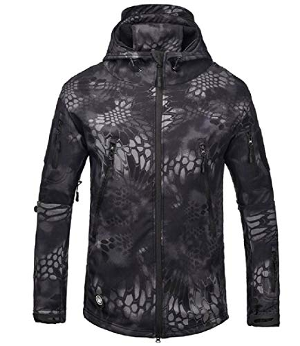 EnergyMen Camouflage Color Chunky Outdoor Textured Snowboard Jacket 3 XL