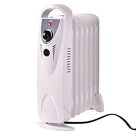 Tangkula Electric Oil Filled Radiator Heater Portable Home Room Mini Room Radiant Heat Thermostat