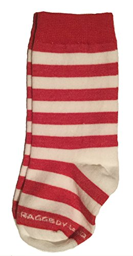 Red & White Stripe Knee High Socks- Infant Baby Bootie - Raggedy Ann Rag Doll Elf Candy Cane (Red And White Stripped Tights)