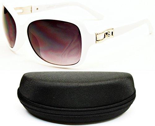 D5024-CC Diamond Eyewear Oversized Women's Sunglasses (O1388B - White Dg Sunglasses