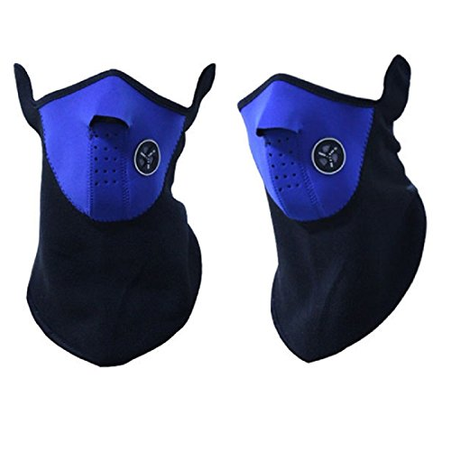 SIHE Windproof dustproof Cold Weather Mouth Masks Half Face Masks for Motorcycles (Blue) by SIHE (Image #2)