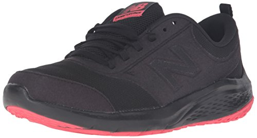New Balance Women's 85v1 Walking Shoe, Black/Pink, 7 D US