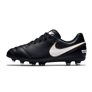 NIKE Men's Tiempo Rio III FG Soccer Cleat Black/White Size 10 M US