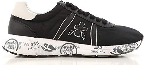 Uomo Pelle Sneakers Italy Black Scarpe Nylon Mattew E Nera 2832 In Premiata Made Suola Bianca TBwRqR