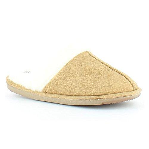 Heavenly Feet - Zapatillas de estar por casa de Material Sintético para mujer marrón claro