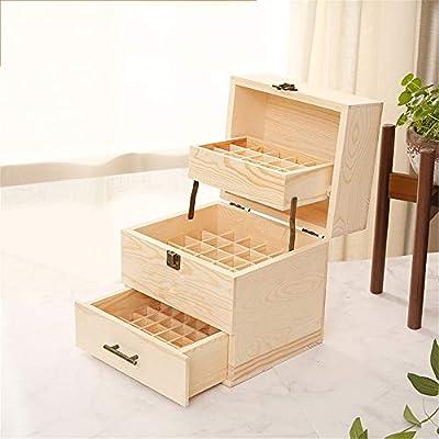 Esencial de almacenamiento caja de aceite Aceite esencial de madera de múltiples bandejas Organizador for Presentaciones protege sus aceites de los 24x22x19cm luz del sol perjudicial Aceite esencial d: Amazon.es: Hogar
