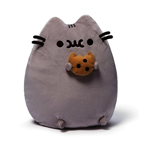 9.5 Light Gray Pusheen the Cat with Cookie Silky and Soft Plush Stuffed Animal Toy