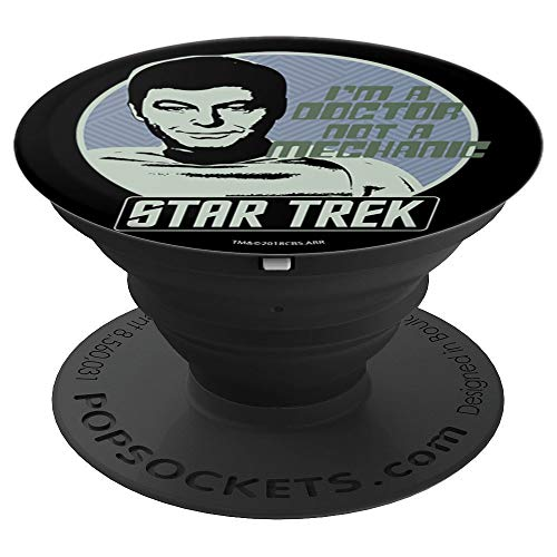 Star Trek McCoy Badge Trust Me I'm A Doctor - PopSockets Grip and Stand for Phones and Tablets