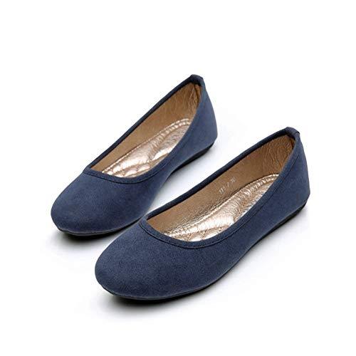 FLYRCX scarpe donna singole lavoro Shallow scarpe blue incinta da scarpe fondo donna bocca da scarpe semplice confortevole moda basse morbido scamosciata rrqAaUwS