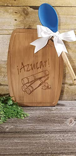 Azucar Cutting board Celia Cruz Inspired Latin Cooking Gift from Splatacular Designs and Crafts