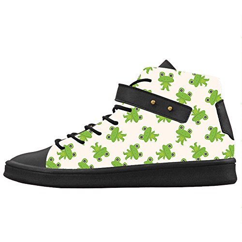 Custom Funny Frog Womens Toile Chaussures Chaussures Chaussures Chaussures.