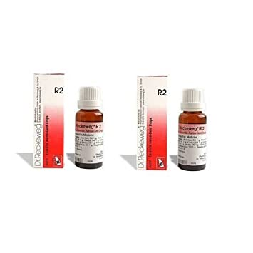 2 LOT X Dr  Reckeweg - Homeopathic Medicine - R2 - Heart Efficiency - Gold  Drops