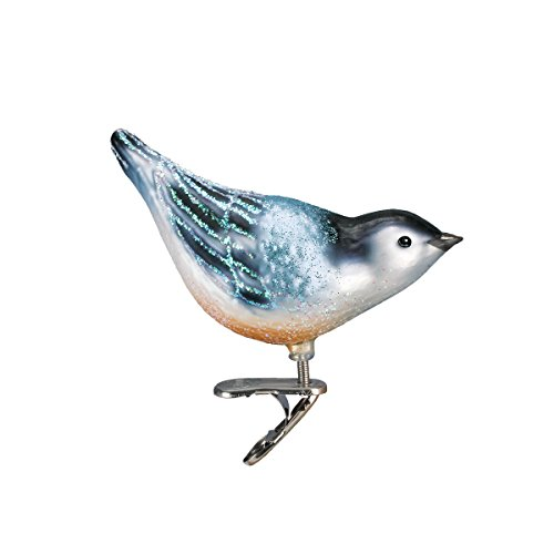 Old World Christmas Ornaments: Nuthatch Glass Blown Ornaments for Christmas Tree