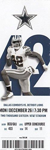 2016 Dallas Cowboys v Detroit Lions Ticket 12/26 Prescott 3 TDs 32460