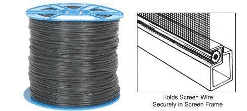 CRL .165 Black Serrated Screen Retainer Spline Bulk 15 Lb Roll - SSBL165B by CRL