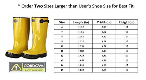 Cordoba Sicherheit Produkte 43cm over-shoe Stil Gummi Slush Boot, gelb, BYS17-12