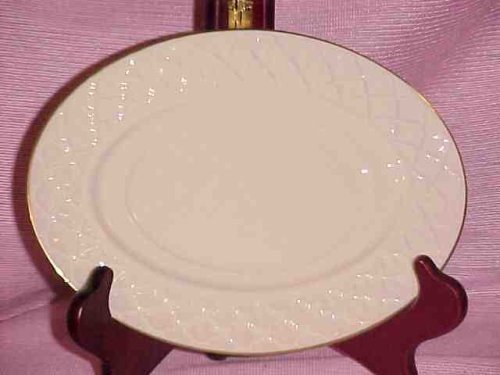 Lenox Jacquard Gold Sauce Gravy Boat Plate Stand New