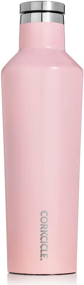 Corkcicle Botella isotérmica, Acero Inoxidable, Gloss Rose Quartz, 47 cl