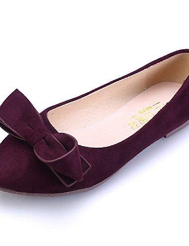 Burgundy de uk5 comodidad cerrado cn38 de plano talón rosa ante 5 us7 negro Toe vestido mujer eu38 PDX azul pink 5 zapatos casual Flats señaló Toe EUvnxfxq