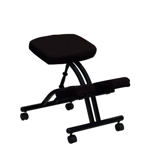 Cheap Flash Furniture Mobile Ergonomic Kneeling Chair in Black Fabric