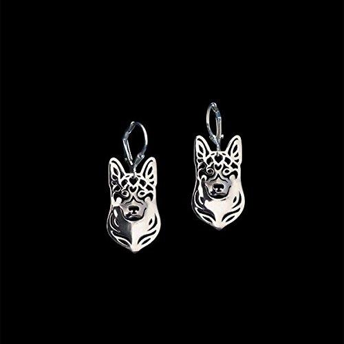 German Shepard Dog Earrings Ginger Lyne Collection