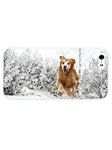 3d Full Wrap Case For Sam Sung Galaxy S4 Mini Cover Animal Happy Dog In The Snow