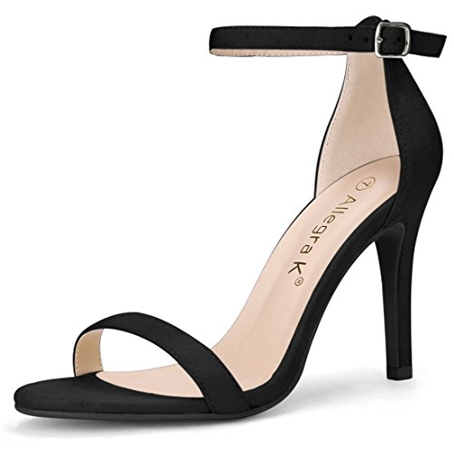 Allegra K Women's Open Toe Stiletto Heel Ankle Strap Sandals (Size US 5)