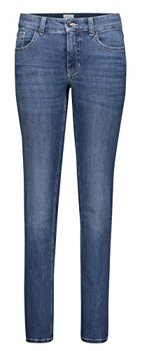 Bleu Jambe Authentic Mid Jeans Used Droite Blue Femme Mac wAvgIcqW11