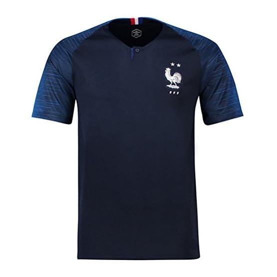 Maillots de Football de France Soccer Jersey 2018 Homeland Extérieur,Black,XL