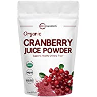 Sustainably US Grown, Organic Cranberry Juice Powder, 8 Ounce, Enhance Urinary Tract Cleanse, Bladder, Prostate Health and Immune System, Natural Flavor & Vitamin C for Smoothie, Vegan Friendly