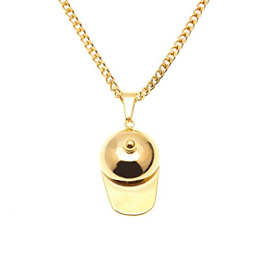 - Geetobby Stainless Steel Baseball Peaked Cap Pendant Youth Sports Necklace Chain for Gift Souvenir