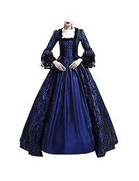 VEZAD Women Bandage Corset Middeleeuwse Renaissance Vintage Party Club Elegante Dress