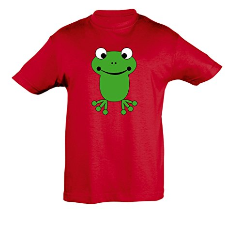 Fille Enfants Shirt Grenouille Pour Et Red Garçon 2store24 TRqvwx
