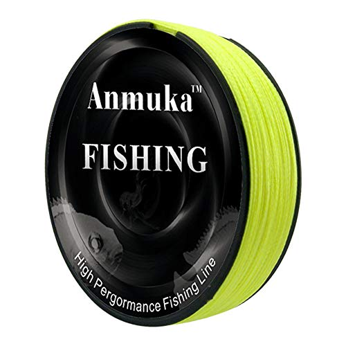 FRIDG 100m Fishing Braided Line, Super Strong PE 4 Strands Weave Braided Fishing Line Rope Fish Tackle Tool Fluorescent Yellow 1.2