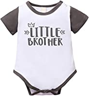 BAOBAOLAI Little Sister Big Sister Matching Outfits Short Sleeve Rompers Shirts