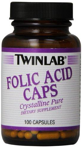 Twinlab Folic Acid Caps, 800mcg, 100 Capsules (Pack of 6) Review