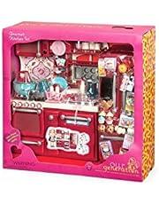 Our Generation Cucina accessoriata per Bambole, Colore Rosso, BD37086Z