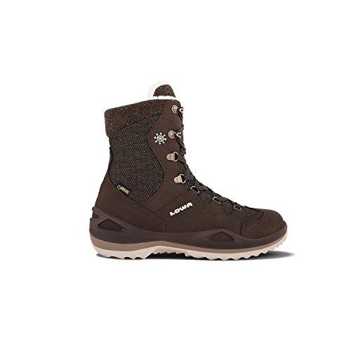 Lowa Calceta Gtx, Zapatos de High Rise Senderismo para Mujer DUNKELBRAUN/CREME