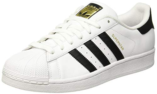 adidas Originals Men's Superstar Casual Sneaker, White and Black 8.5