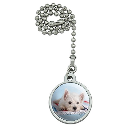 (West Highland Terrier Westie Puppy Dog Beach Towel Ceiling Fan and Light Pull Chain)