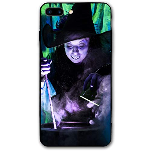 Halloween Witch Cooking Brew Zombie iPhone 8 Plus Case, iPhone 7 Plus Case, Ultra Thin Lightweight Cover Shell, Anti Scratch Durable, Shock Absorb Bumper Environmental Protection Case Cover]()