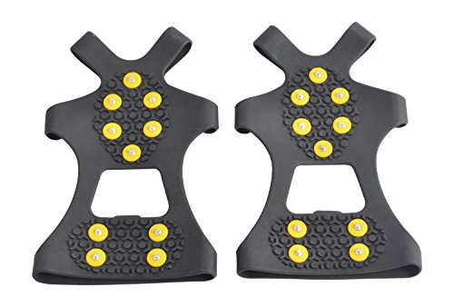 WAYPOR Ice Grips, Traction Cleats, Ice Cleat, Easy Slip On, Outdoor Durable, 10 Steel Studs, Stretchable, Prevent Slipping from Ice/Snow, Extra Studs Included in Each Package. 8
