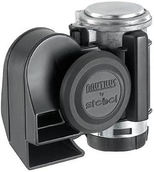 Stebel Nautilus Compact Black 12v Kompressor Hupe Auto