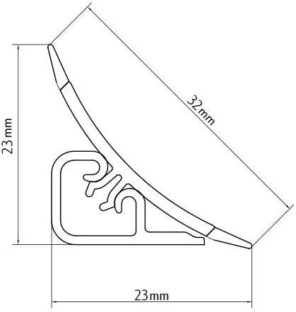 PVC DQ-PP MUSTER WINKELLEISTE Granit 23 x 23mm K/üchenleiste Arbeitsplatte Abschlussleiste Leiste K/üche K/üchenabschlussleiste Wandabschlussleiste Tischplattenleisten
